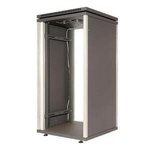 МЕТА 4901-42 шкаф 42U, стекл. дверь, 4вентил.