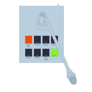 РТС-2000 ПМ-8 Пульт микрофонный