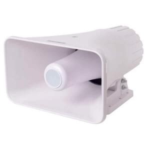 АС-10-30/100 (НП) исп.5 уличная акустическая система, 10Вт, 30В/100В, настенное крепление, АБС-пластик, IP54
